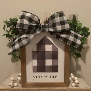 Farmhouse wooden You + Me picture